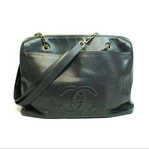 Classic Chanel Large Leather ayote Bag